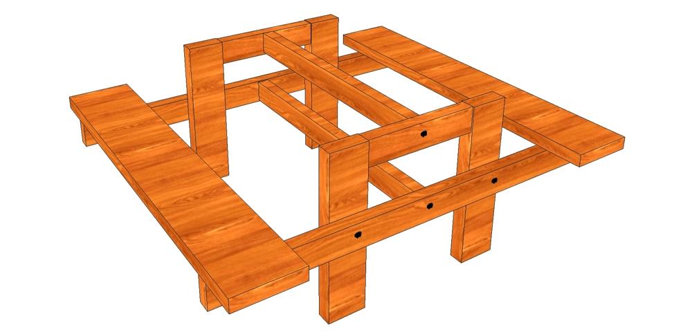 Как сделать дачный стол своими руками