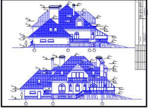 проект загородного дома коттеджа