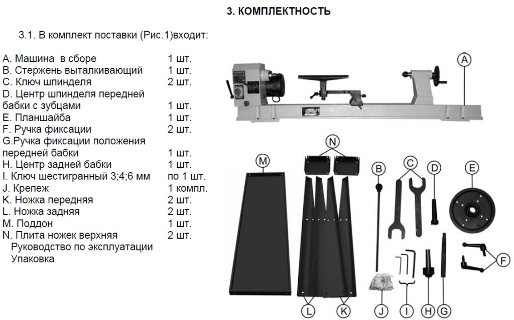 Комплектация Корвет 76