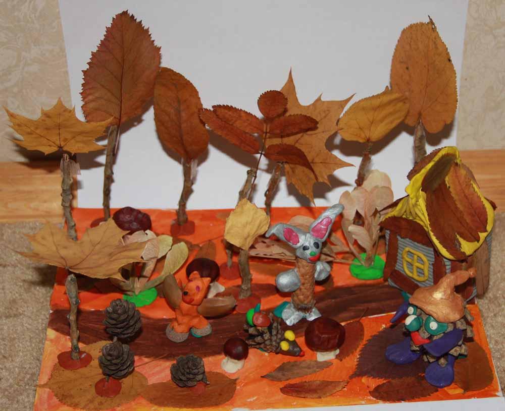 поделки из листьев своими руками осень с пошаговой инструкцией.