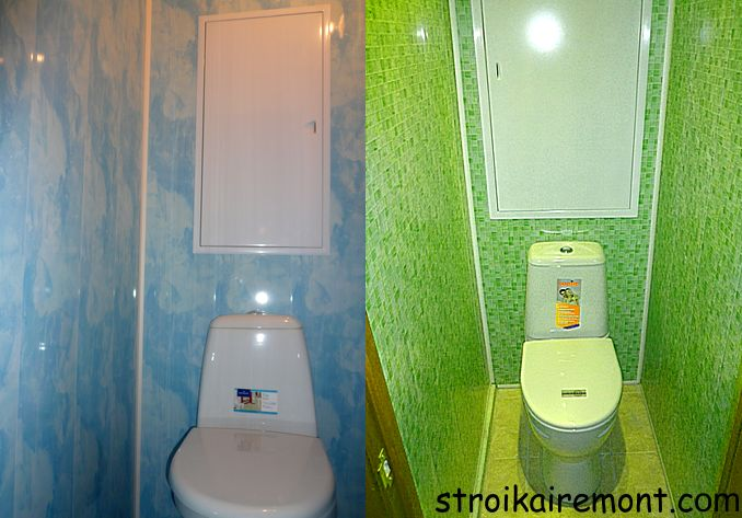 Отделка туалета панелями пвх