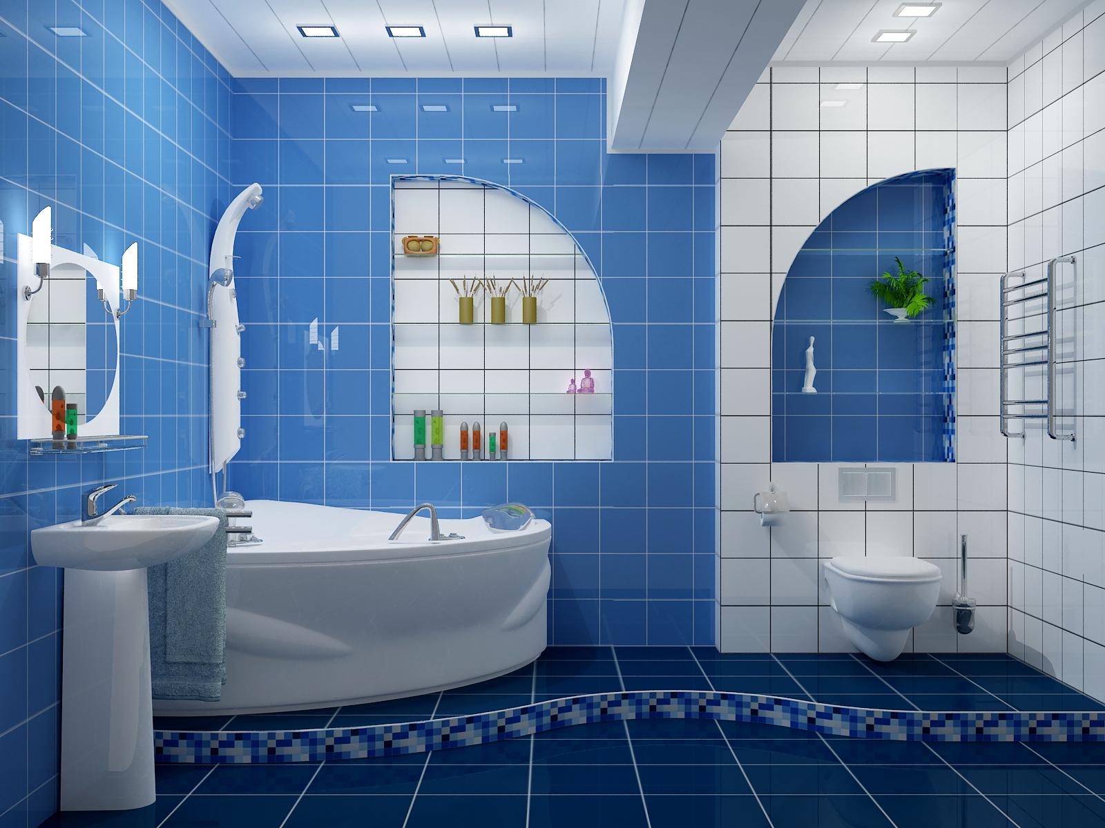 Цветовое решение интерьера ванной