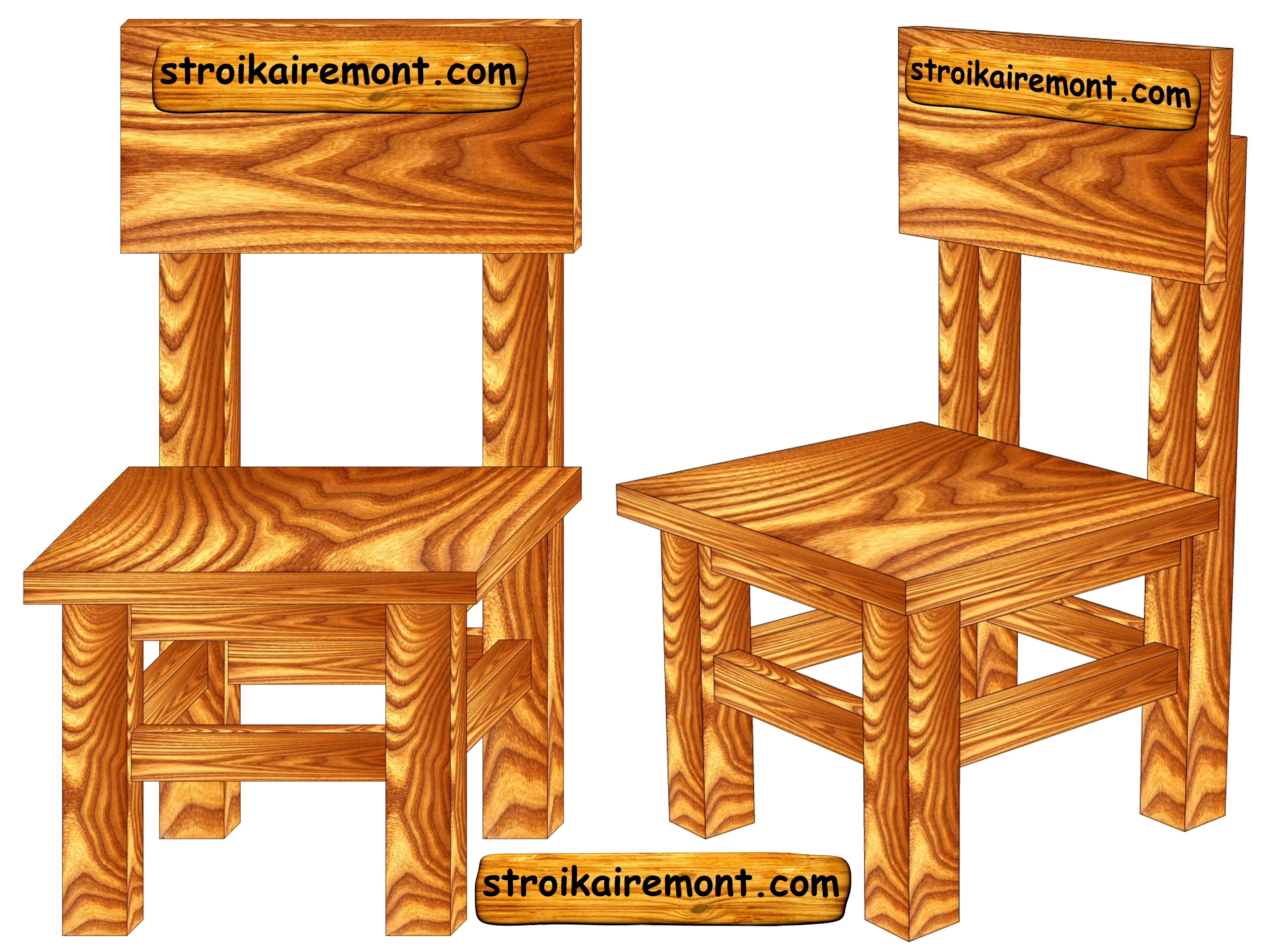 Чертеж детского стула