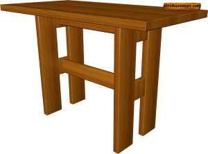 Как сделать стол из дерева самому
