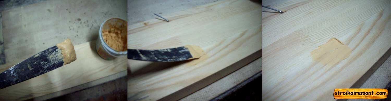 Изготовление шпаклёвка по дереву своими руками6