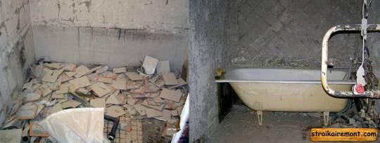 Отделка ванной своими руками демонтаж