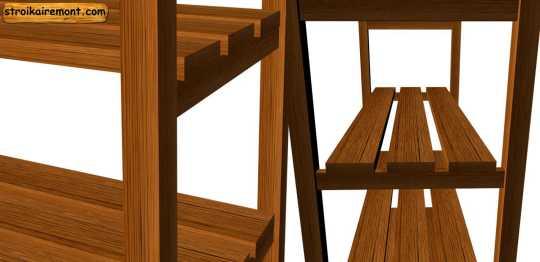 Как сделать этажерку своими руками сборка