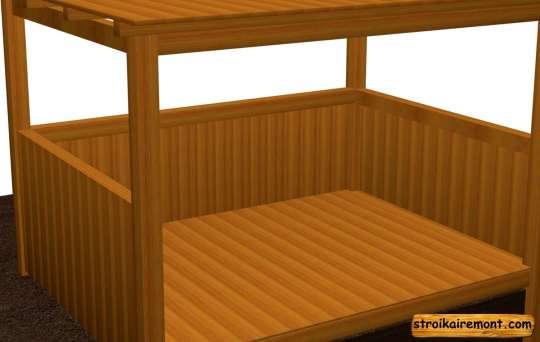 Строительство деревянной беседки обшивка