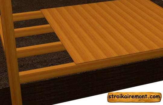Строительство полов деревянной беседки