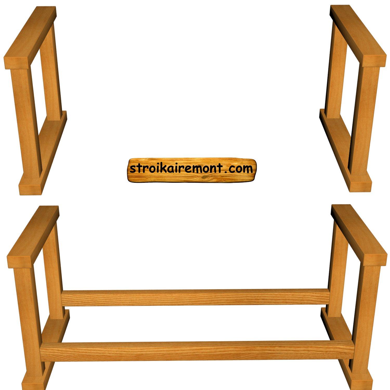Подставка с деревянным подносом laptray мини дерево/песчаная