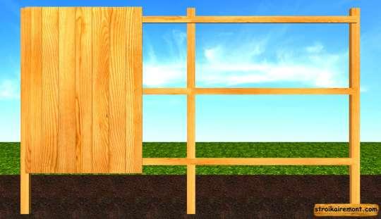 Строительство деревянного забора обшивка
