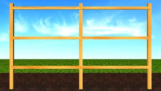 Строительство деревянного забора направляющие