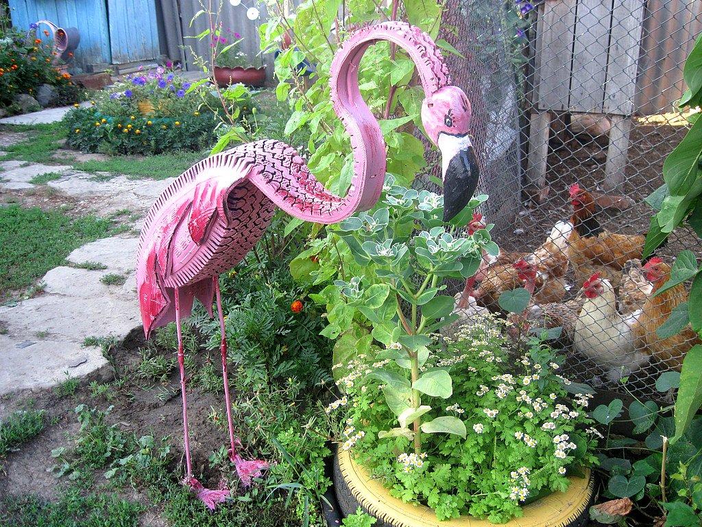 Фигурки своими руками для сада из пластиковых