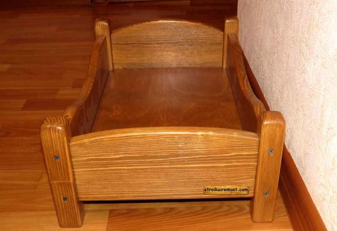 Деревянная кроватка для куклы своими руками