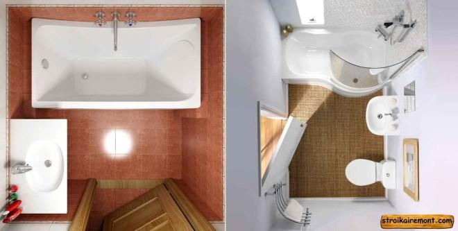 ванная комната маленькая интерьер