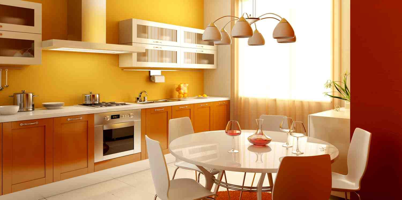 Как покрасить кухню разными цветами фото