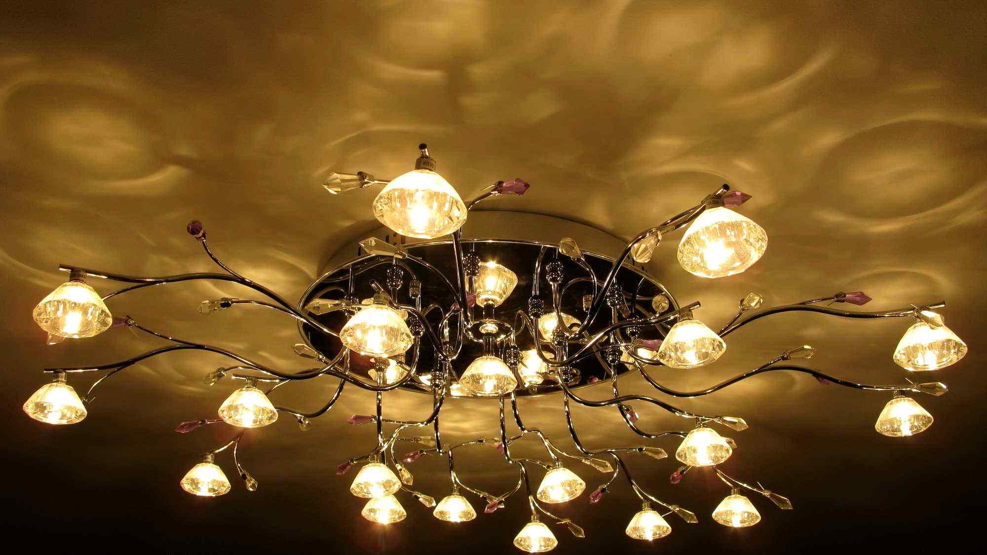 Освещение в моем доме люстра