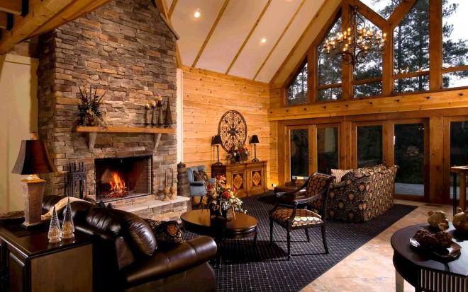 Отопление дома камином