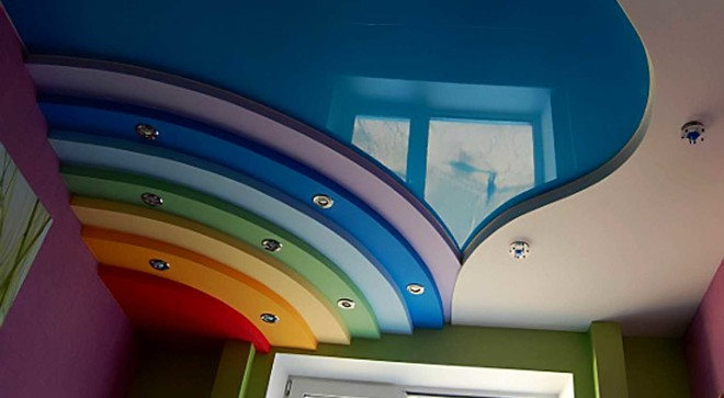 В какой цвет покрасить потолок