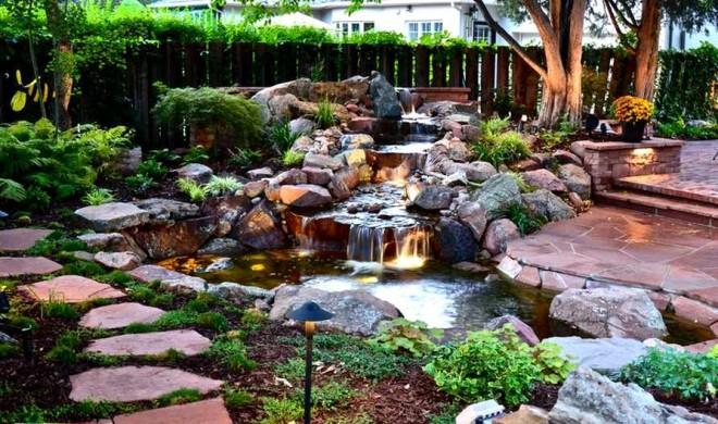 декор сада Ландшафтный камень
