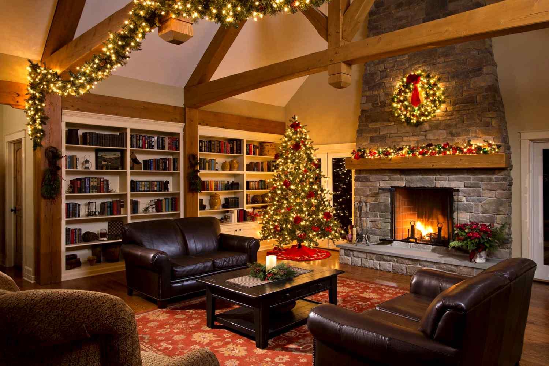 Изменение интерьера к новогодней ночи