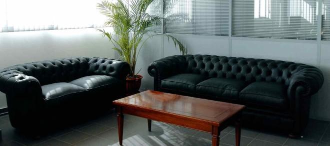Кожаный офисный диван или кожзаменитель