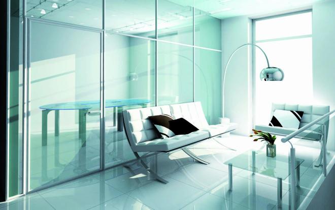 Немного о стеклянном интерьере