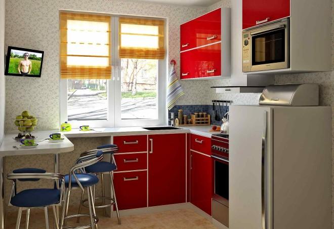 Мебель в дизайне небольшой кухни