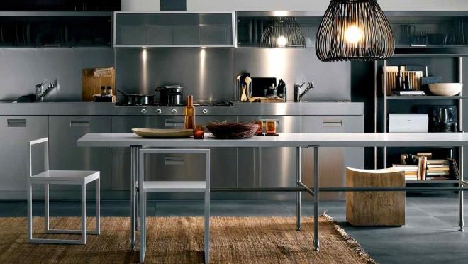 Современная кухня из металла