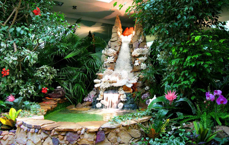 Водопад своими руками: для дачи, сада, домашний 70