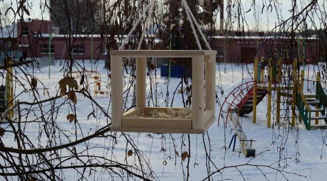 Украли кормушку для птиц
