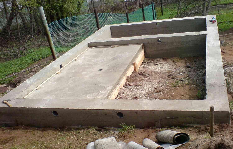 Ленточный малозаглубленный фундамент для дома