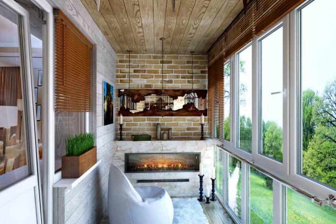 Красивый балкон – уютное место
