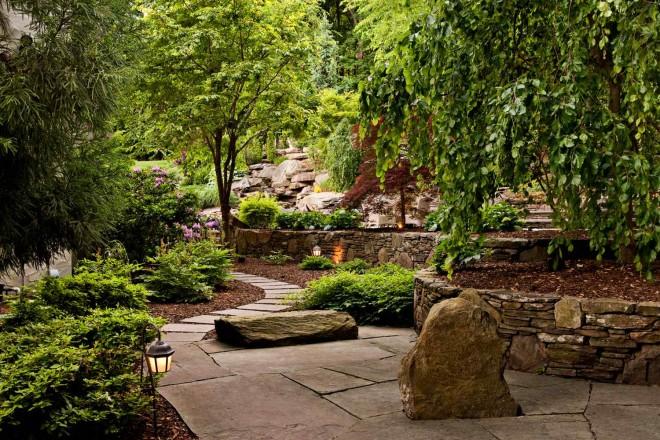 Бордюр и покрытие садовой дорожки