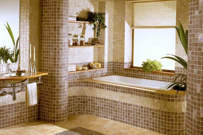 Декор интерьера мозаичной плиткой