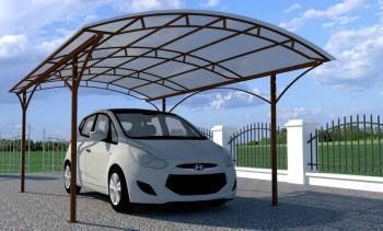 Монтаж навеса для автомобиля из поликарбоната