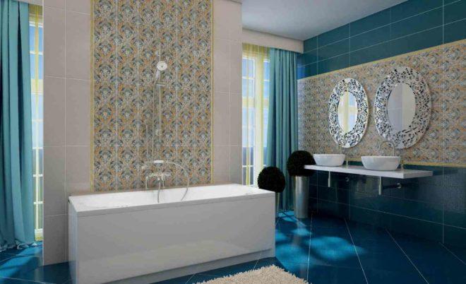 Красиво оформляем плиткой маленькую ванную комнату