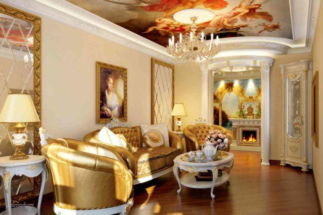 Особенности дворцового стиля в интерьере