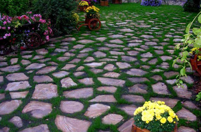 Покрытие садовых дорожек