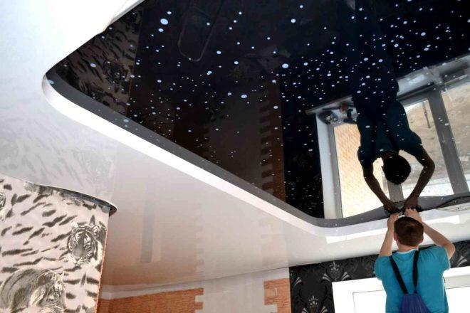 Выбор технологии установки натяжных потолков