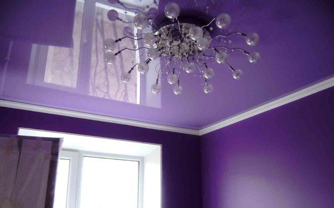 Матовые и глянцевые потолки натяжные