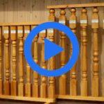Точеная балясина от дедушки Володи — видео обзор