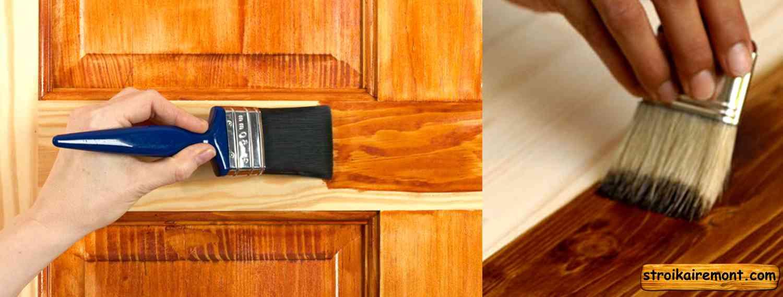 Как покрыть лаком деревянную дверь своими руками