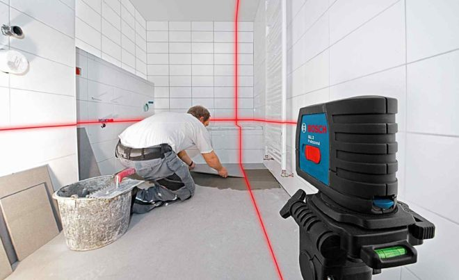 Особенности лазерного нивелира Bosch