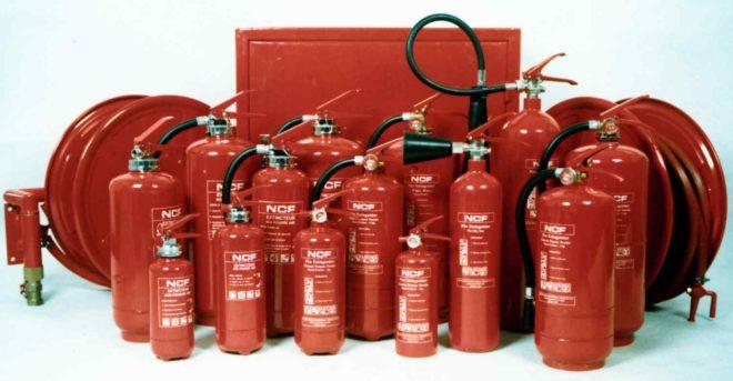 Выбор порошковых огнетушителей