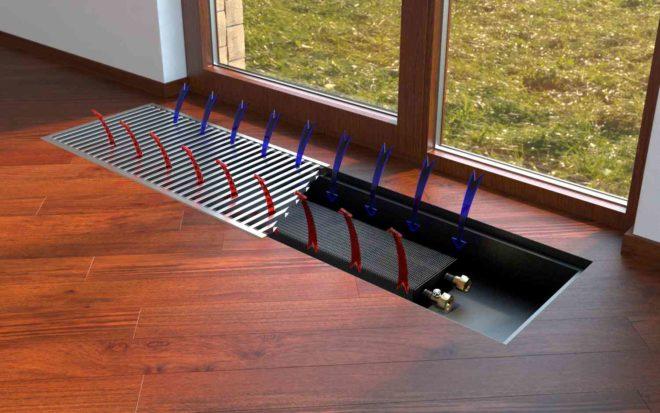 Использование внутрипольного конвектора