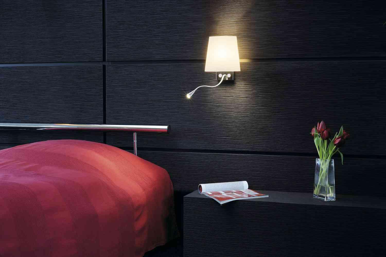 Как выбрать настенный светильник в спальню