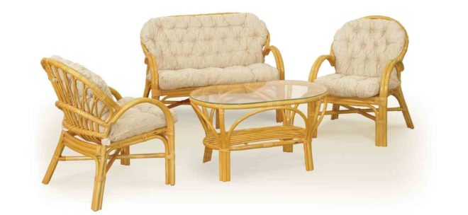 Мебель из ротанга для дачи