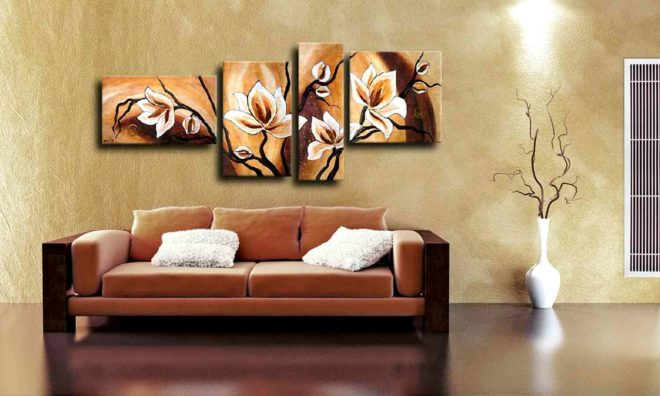 Метод украшения интерьера картинами