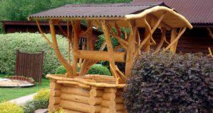 Деревянные колодца фотографии